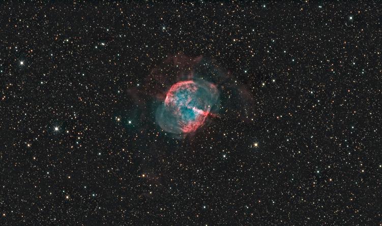 M-27 avec l'ASA Astrograph 12 M27-HaRGBrecadree